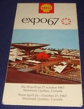 BR454 Vtg Shell Oil Co Montreal Quebec QC Expo67 Road Map 1967