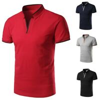 2019 Men's Casual Fashion Standing Collar Youth Short-sleeved Polo Shirt Blouse