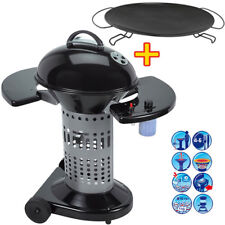 Campingaz Holzkohle Grill Kugelgrill Säulengrill Barbecue BBQ + Koch Platte WOW