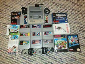Super Nintendo SNES Console Bundle Inc. 11 Games/2 Original Joypads & Extras