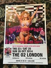 LADY GAGA THE ARTPOP BALL UK TOUR LONDON A4 POSTER