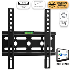 "TV Wall Bracket Low Profile Fixed Mounting 24-42"" Inch Integrated Spirit Level"