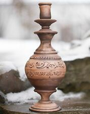 Rustic Candle holder Candlestick Wedding table centerpiece Holiday decor Ceramic