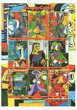 "PABLO PICASSO GENIUS ARTIST 5.5"" x 7.5"" SOMALIA 2002 MNH STAMP SHEETLET"