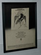 Eagles 1974 On The Border Lp And Tour Dates Promotional Framed Poster / Ad