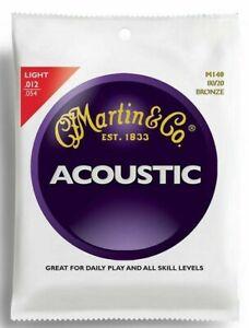 3 x Sets of Martin M140 80/20 Bronze Acoustic 12-54 Light Guitar Strings