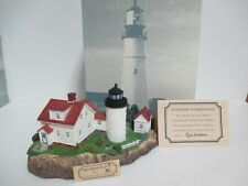 """New listing Harbour Lights """"Bass Harbor Head"""" Maine #214 - No. 1873 of 6,500 - Retired/Rare!"""