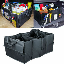 Black Fold-able Fabric Car Organizer Trunk Box Portable Bag Storage Case Cargo
