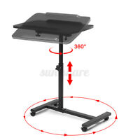 Adjustable Rolling Height Angle Laptop Sofa Desk Overbed Notebook Table Stand US