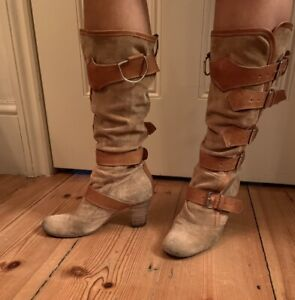 vivienne westwood Tan Suede Pirate Boots Size UK 3 /36