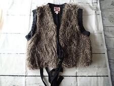 juicy couture faux fur vest knit top,JACKET, SIZE xl gilet,wool cashmere blend 1