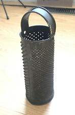 Antique Primitive Small Size Round Tin Grater Vintage Handled AAFA