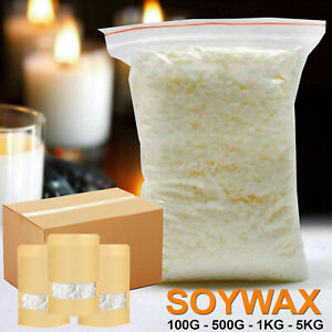 100% Pure Soy Wax 10G - 50KG Natural Soya Container Wax Flakes for Candle making