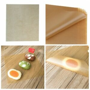 50Pcs Brown Wax Tissue Paper Wedding Xmas Candy Sweets DIY Food Gift Wrapping