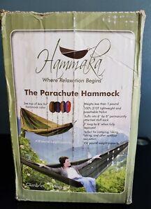 Hammaka 2 Person Parachute Hammock Army Green & Brown 8x6 450lb capacity NIB