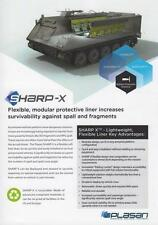 PLASAN SHARP-X 2016 MILITARY BROCHURE PROSPEKT FOLDER DEPLIANT