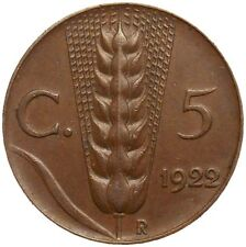 Italia Italy 5 centesimi 1922 KM#59 Vittorio Emanuele III (it-15)