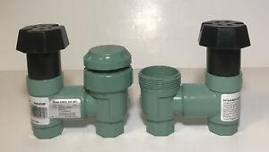 "Lot Of 2 Orbit 3/4"" Anti-Siphon Sprinkler Control Valve 51022 Missing Pieces"