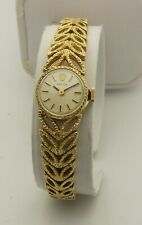 14K Yellow Gold Rolex Ladies Watch With Openwork Leaf Pattern Bracelet Cal. 1400