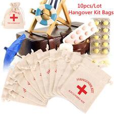 10pcs Set Hangover Survival Kit Cotton Linen Bags First Aid Party Storage Supply