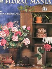 Floral Mania Tole Painting Book by Anna Basamania NEW