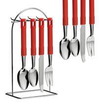 24pc premier ministre pendaison Set de couverts de cuisine Set de couverts couteaux fourchettes cuillères stand