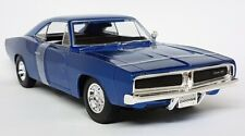 Maisto 1/18 Scale - 1969 Dodge Charger R/T Metallic Blue Diecast Model Car