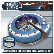 Essbare Tortenaufleger Star Wars Darth Vader NEU Deko Geburtstag backen dvd Luke