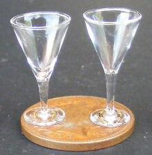 1:12 Escala 2 Claro Copas De Vino Casa De Muñecas En Miniatura Bebida Accesorio gla16