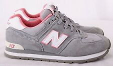 New Balance KJ574GCG 574 Gray/Pink Suede Running Sneakers Men's U.S. 6.5 M