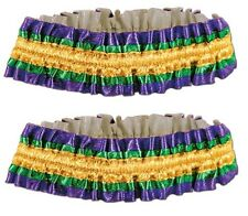 Adult size Mardi Gras Arm Bands - 1 pair Costume Accessory Garters fnt