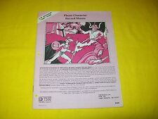 PLAYER CHARACTER RECORD SHEETS DUNGEONS & DRAGONS AD&D TSR 9028 - 1
