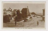 Devon postcard - The Albert Clock and Square, Barnstaple - RP - P/U 1917 (A114)