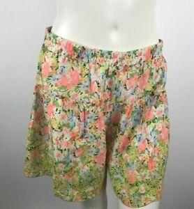 Ivy Jane Green Multi Color Eyelet Trim Shorts Flare Leg Women's Size XS New
