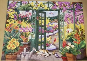 """Bits and Pieces 300 LARGE Piece Puzzle Open To Beauty #44331 Rare!! 18"""" × 24"""""""