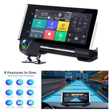 7In Android 5.1 FHD Doble Lente coche DVR Cámara en Tablero Cámara De Visión Trasera Navegación Gps Wifi Adas