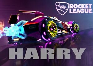 Rocket League Poster Print Personalised  Wall Art Poster