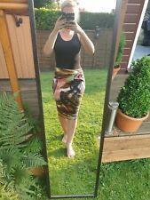 Size 8 Skirt M&S Pencil Zip Up Back Vibrant Design Knee Length