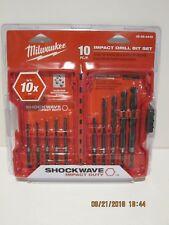 Milwaukee 48-89-4445 Shockwave Impact Duty DRILL Bit Set 10-Piece NISP FPRI-SHIP