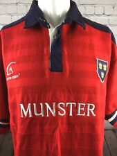 Munster Rugby Shirt Heavy Game Style Vintage Jersey. Size Medium. VGC