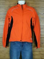 Novara Cycling Jacket Coat Windbreaker Orange Reflective Men's Small S