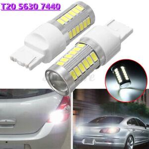 2x 12V T20 5630 7440 33 LED Reverse Brake Turn Signal Parking Light Bulbs 6500K