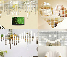 20Pcs AWOU Acrylic Art 3D Wall Mirror Stickers DIY Home Decals Decor Removable