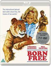 BORN FREE Virginia McKenna BLURAY+DVD in Inglese NEW .cp