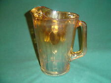 JEANNETTE GLASS IRIDESCENT PITCHER HONEYCOMB HEX OPTIC