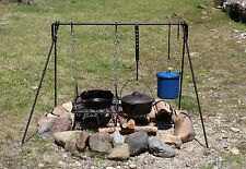 Large Folding Dutch Oven Campfire Cook Set BBQ Cooking Grill  **FREE SHIPPING**