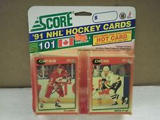 OLDER HOCKEY CARDS SCORE 1991- CANADIAN ENGLISH SERIES 1 CAREY WILSON- NEW- L136