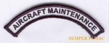AIRCRAFT MAINTENANCE TAB PATCH US ARMY MARINES NAVY AIR FORCE UNIFORM PIN UP HAT