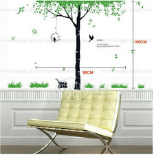 Love Tree Birds Big REMOVABLE Wall Stickers Home Decor Decals Art Vinyl DIY!