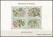 Monaco 1986 SG#MS1803 Seasons Of The Strawberry Tree MNH M/S #D40636